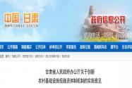 甘肃省关于创新农村基础设施投融资体制机制的实施意见