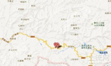 济南南部山区章丘与历城交界处林地