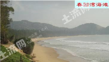 万宁春园湾672亩 一线海景  旅游用地  出售